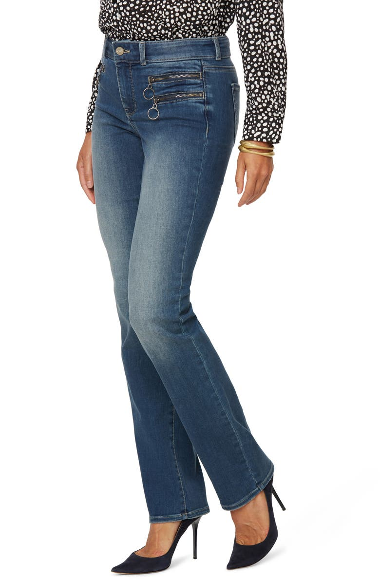 NYDJ Marilyn Hip Zip Straight Leg Jeans, Main, color, CLEAN ENCHANTMENT