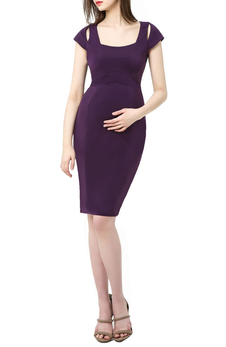 Kimi And Kai Julie Cold Shoulder Body Con Maternity Dress Nordstrom