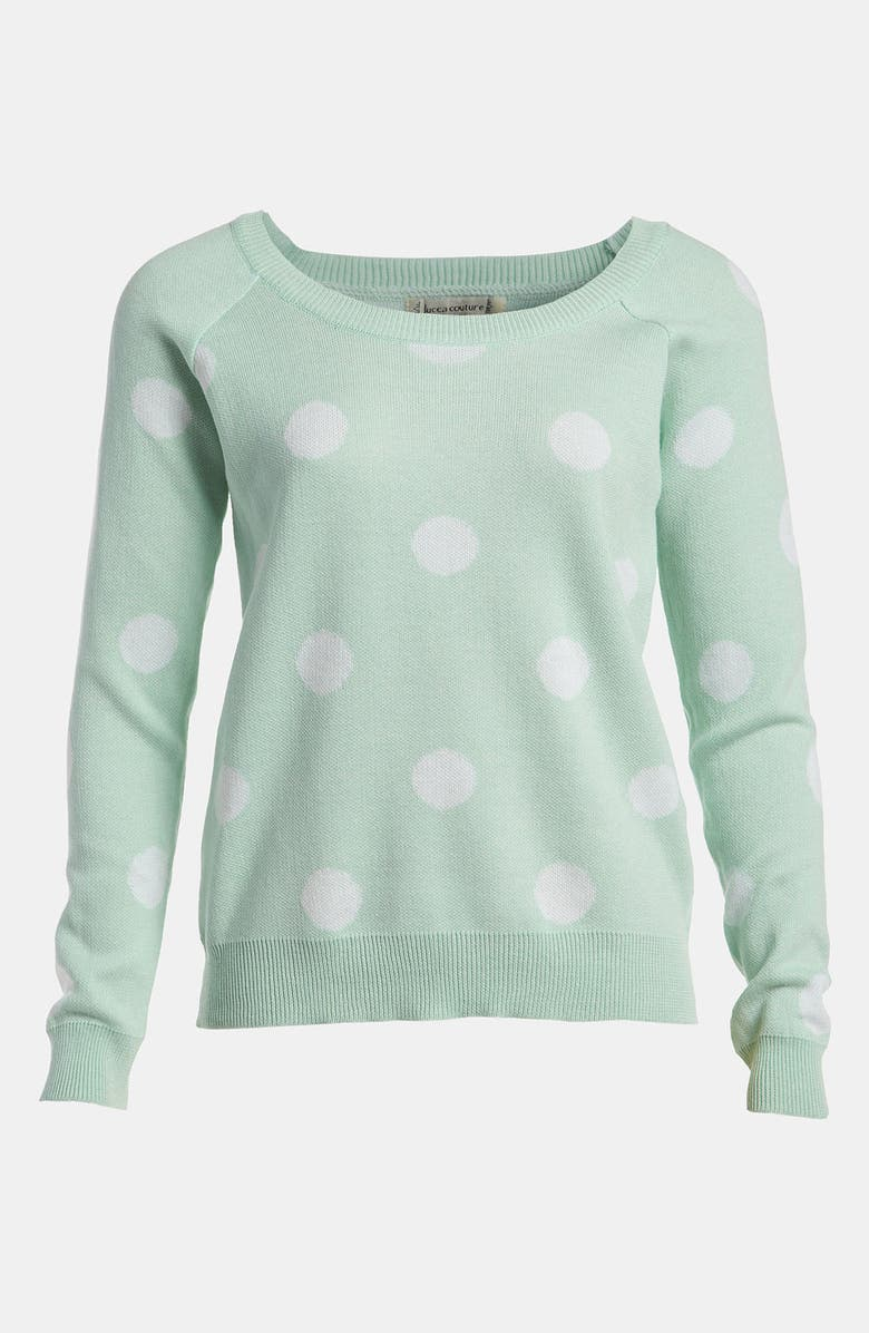 LUCCA COUTURE Polka Dot Sweater, Main, color, 442