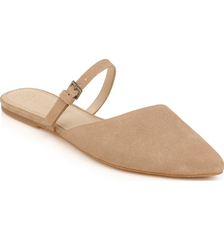 SPLENDID Latisha Mary Jane Pointed Toe Mule, Main, color, TAUPE SUEDE