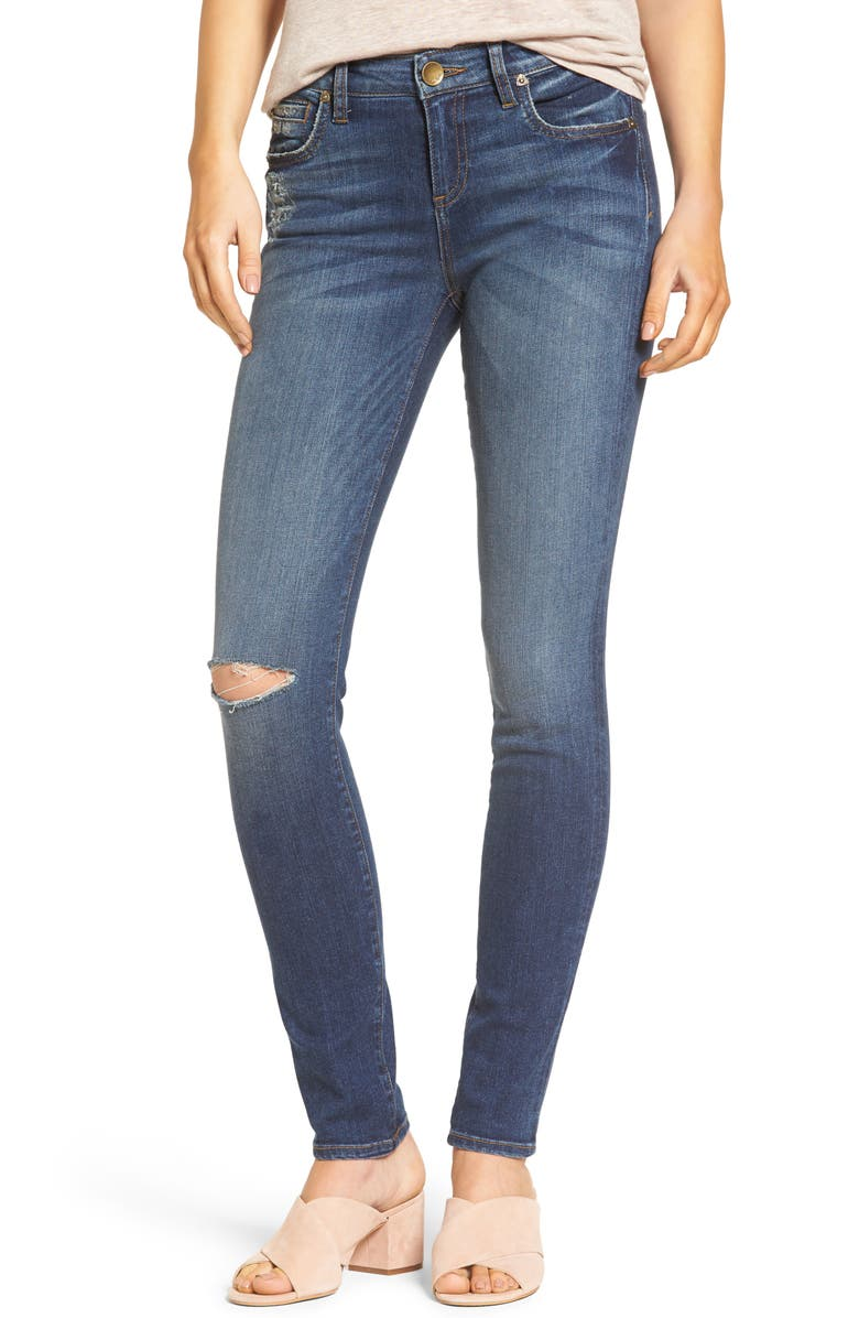 KUT FROM THE KLOTH Diana Ripped Stretch Skinny Jeans, Main, color, 924