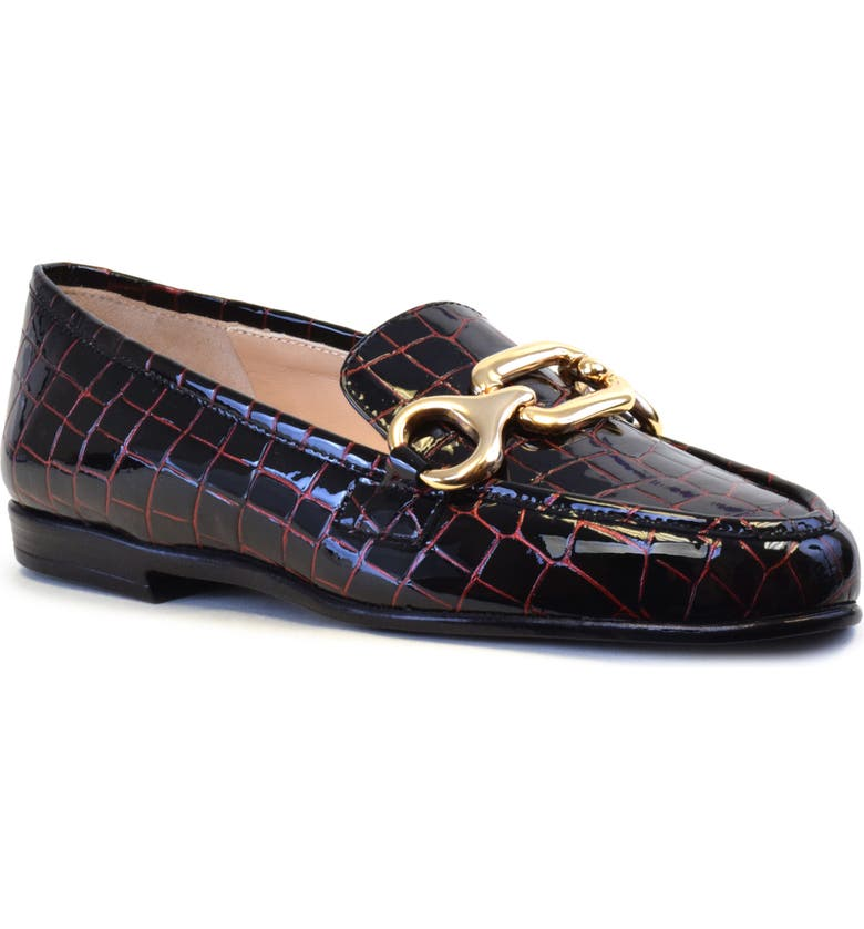 AMALFI BY RANGONI Olivia Loafer, Main, color, ROSSO CROCCO PRINT LEATHER