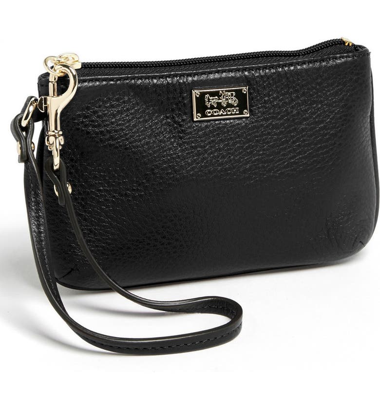 COACH 'Madison - Small' Leather Wristlet, Main, color, 001