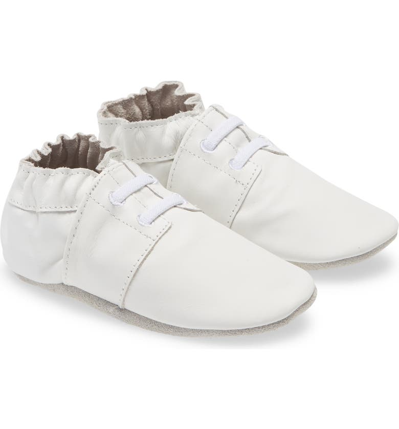 ROBEEZ<SUP>®</SUP> 'Special Occasion' Crib Shoe, Main, color, WHITE