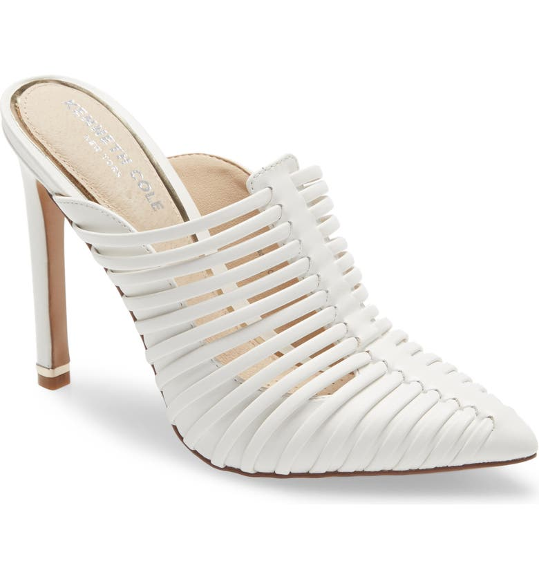 KENNETH COLE NEW YORK Riley 110 Mule, Main, color, WHITE LEATHER