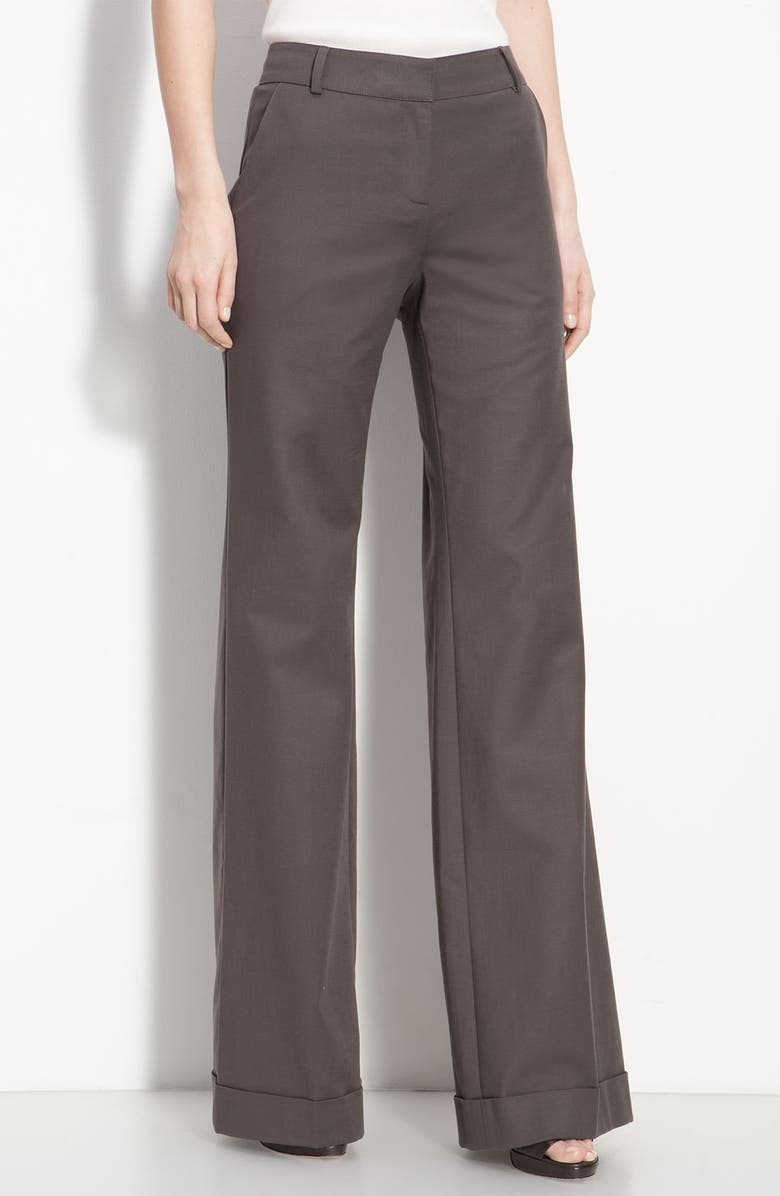 ST. JOHN COLLECTION Cuffed Wide Leg Pants, Main, color, 030