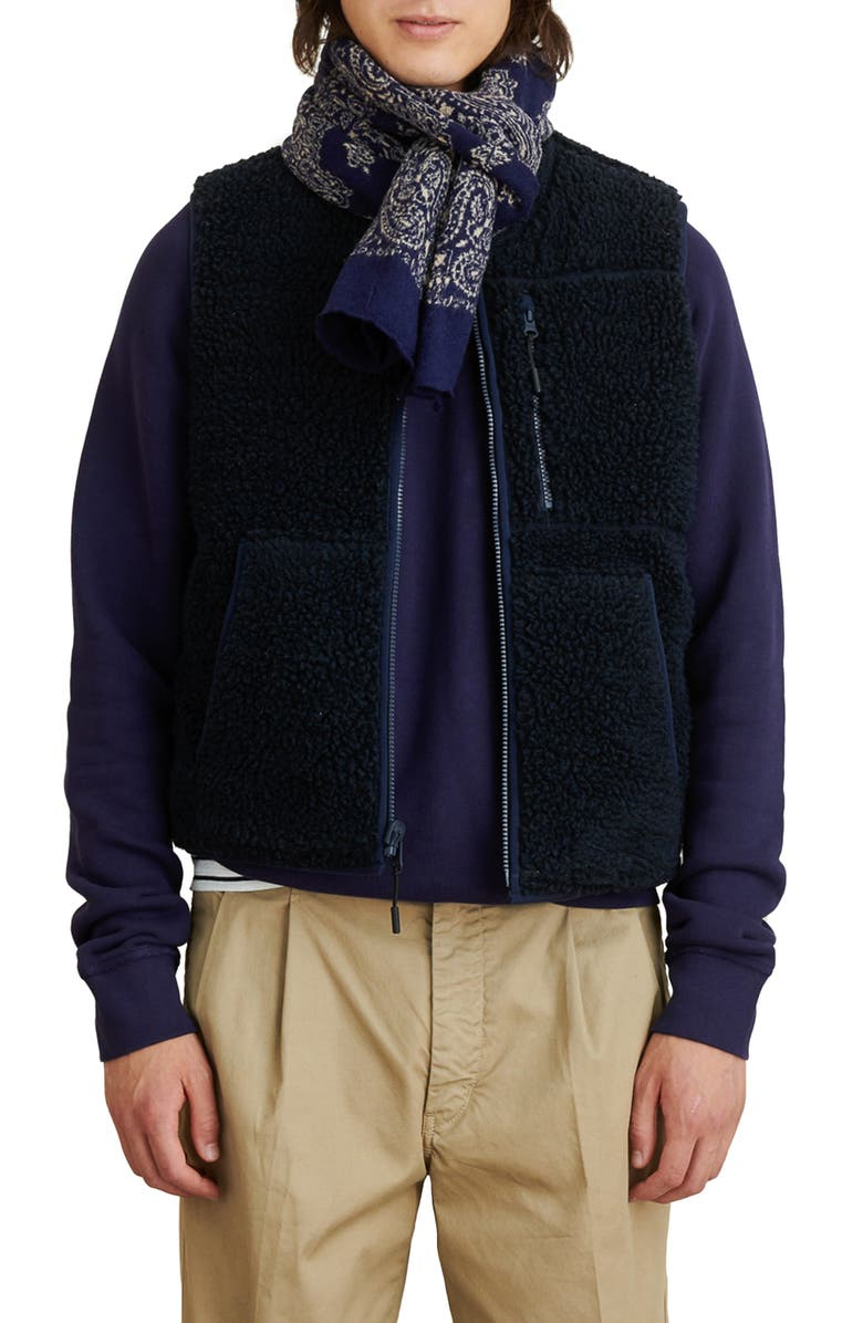ALEX MILL Reversible Fleece Vest, Main, color, DARK NAVY/ DARK NAVY