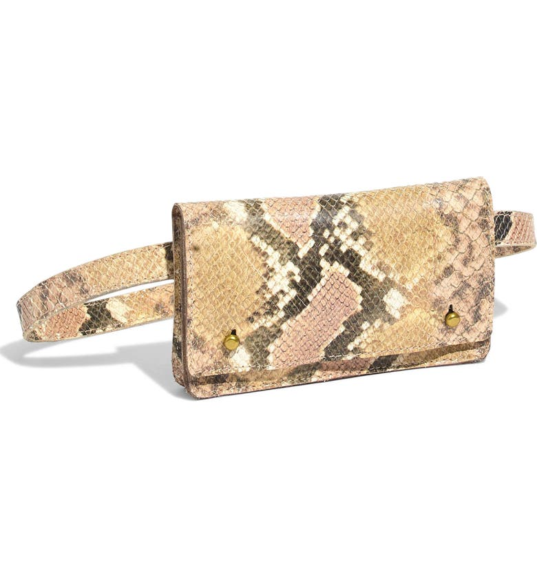 MADEWELL The Leather Belt Bag: Snake Embossed Edition, Main, color, 650