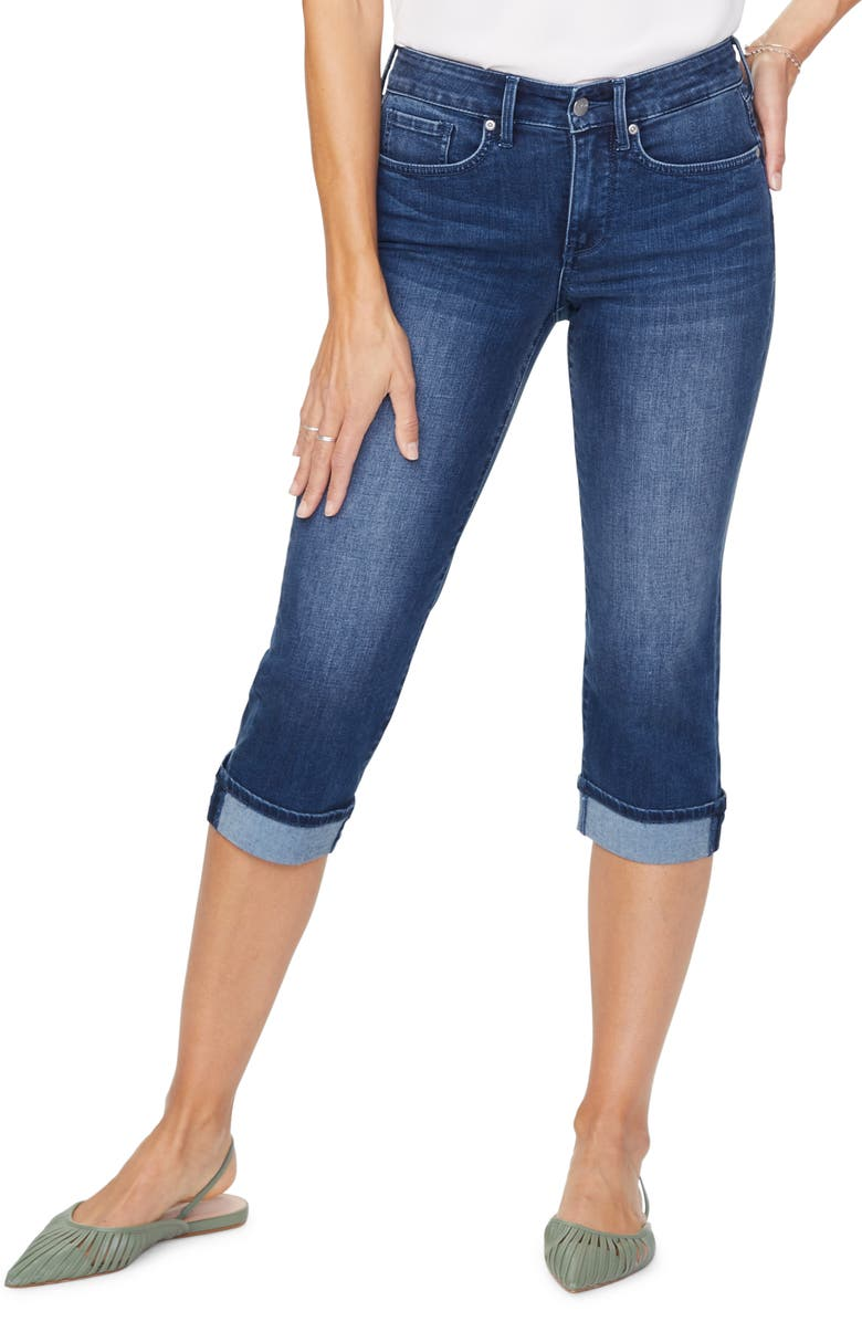 NYDJ Marilyn Cool Embrace Straight Crop Jeans, Main, color, SOLANA