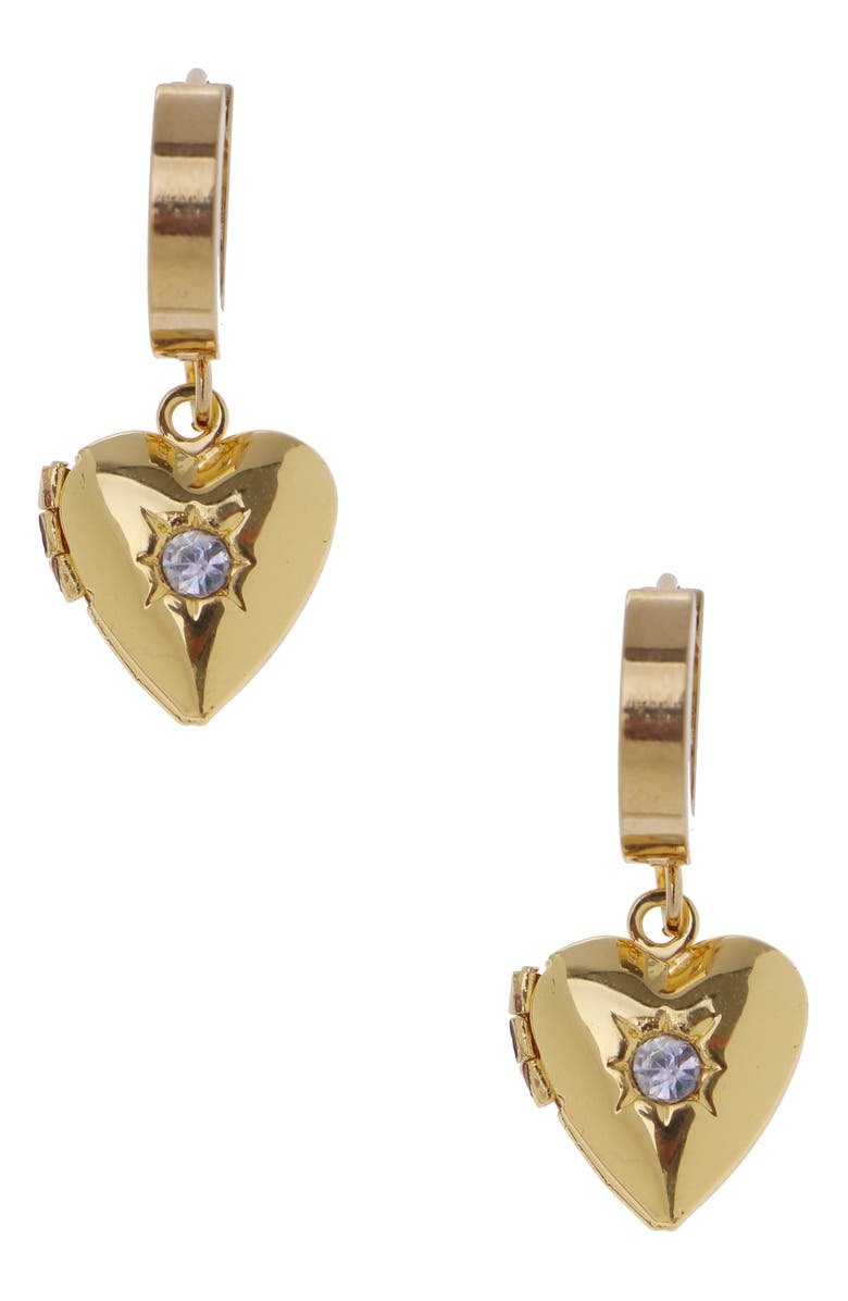NAKAMOL CHICAGO Heart Locket Huggie Hoop Earrings, Main, color, 710