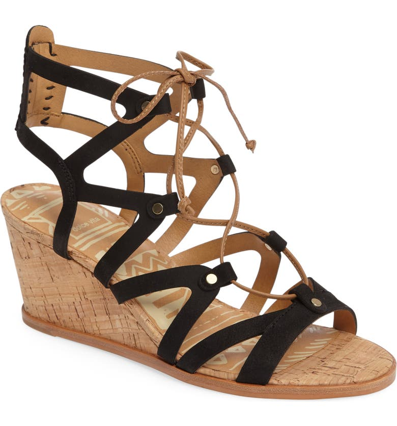 DOLCE VITA Lynnie Wedge Sandal, Main, color, 001