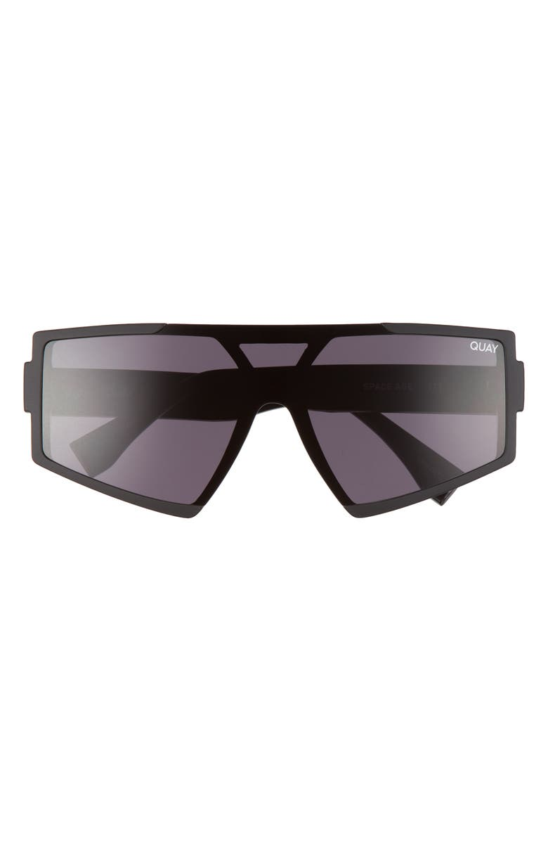 QUAY AUSTRALIA Space Age 65mm Sunglasses, Main, color, MATTE BLACK/ BLACK LENS