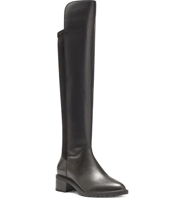 SOLE SOCIETY Favian Knee High Boot, Main, color, BLACK LEATHER