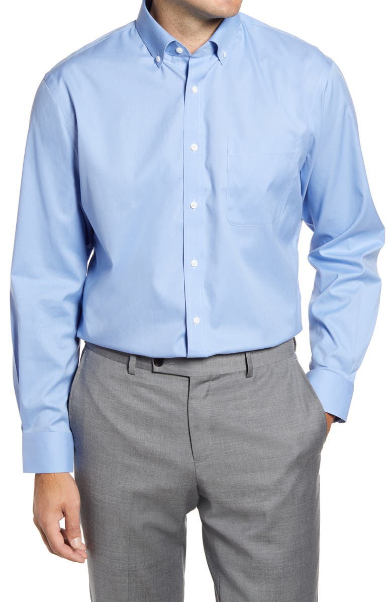 NORDSTROM 3-Pack Traditional Fit Non-Iron Dress Shirt, Main, color, BLUE HYDRANGEA