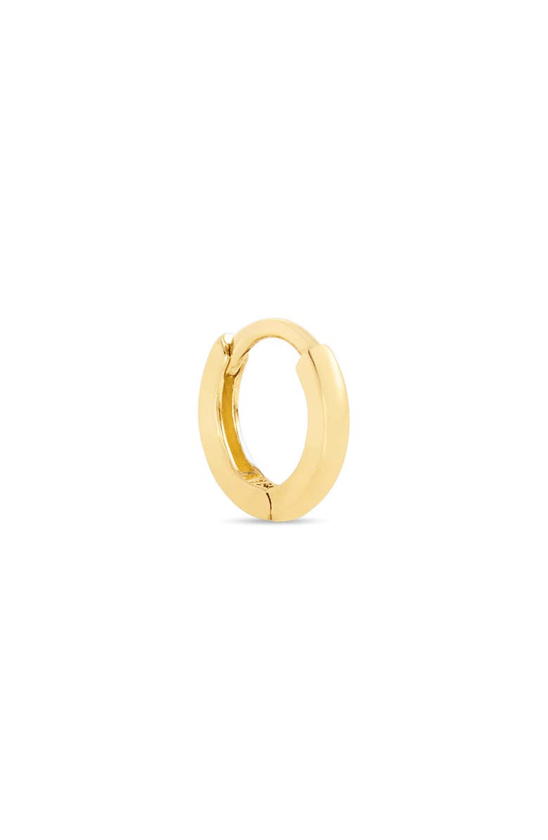STONE AND STRAND Second Hole 14K Gold Huggie Earring, Main, color, YELLOW GOLD
