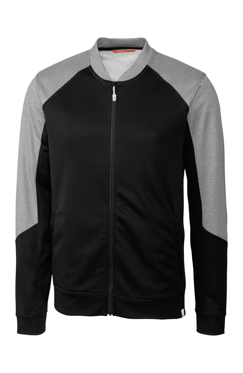 CUTTER AND BUCK Pop Fly Full Zip Jacket, Main, color, BLACK