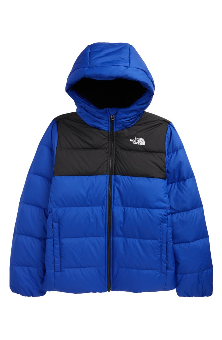 THE NORTH FACE Kids' Moondoggy Water Repellent 550 Fill Power Down Jacket, Main, color, TNF BLUE