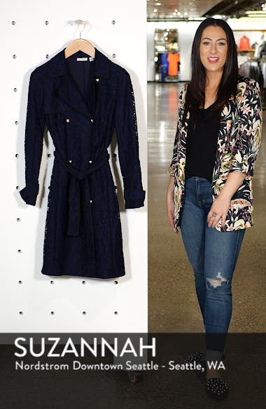 x Atlantic-Pacific Lace Trench Coat, sales video thumbnail