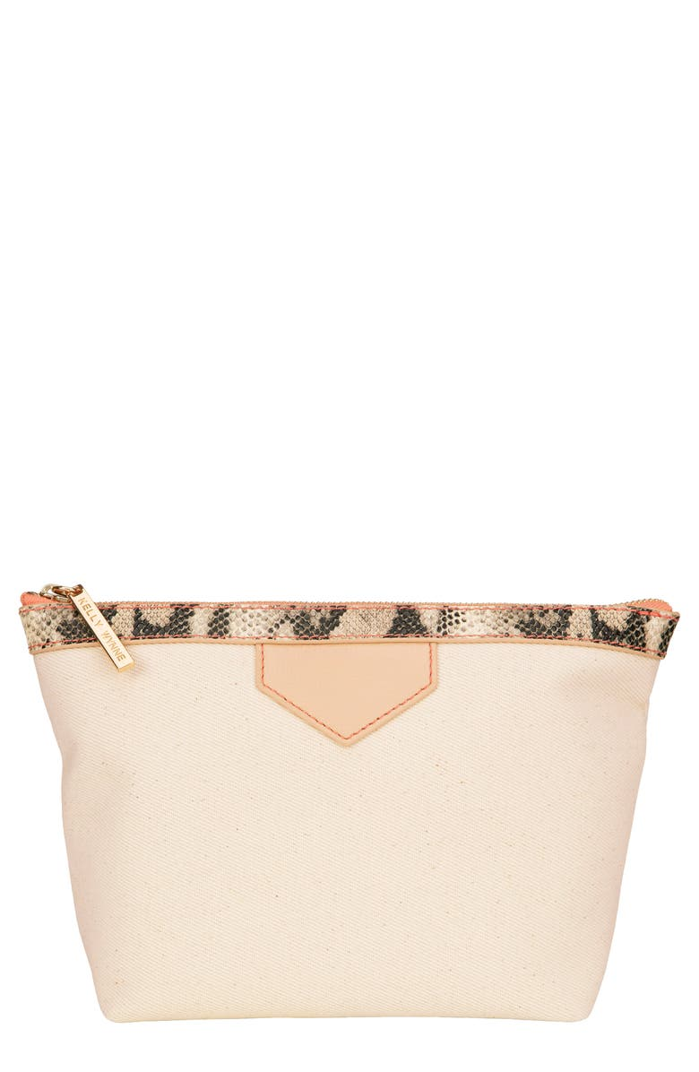 KELLY WYNNE Packed and Ready Makeup Pouch, Main, color, NUDE