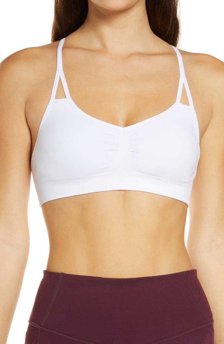 ZELLA BODY Flex Sports Bra, Main, color, 100