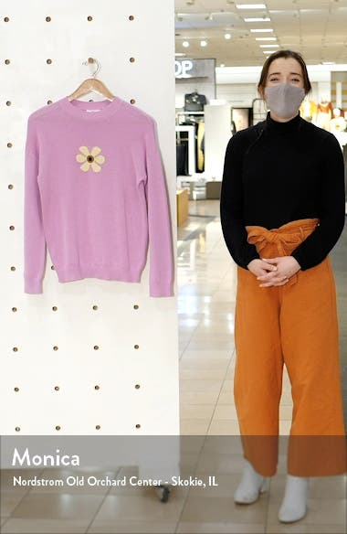 Daisy Front Crewneck Sweater, sales video thumbnail