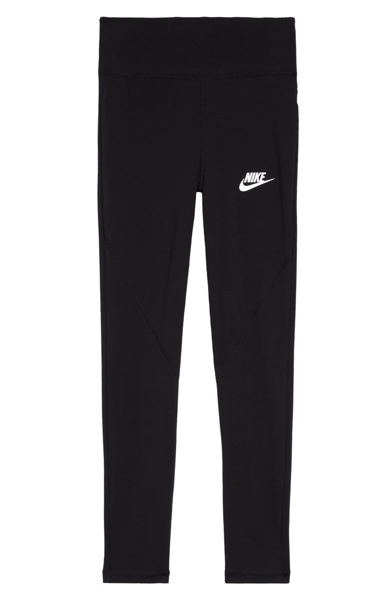 NIKE Kids' High Waist Leggings, Main, color, 010