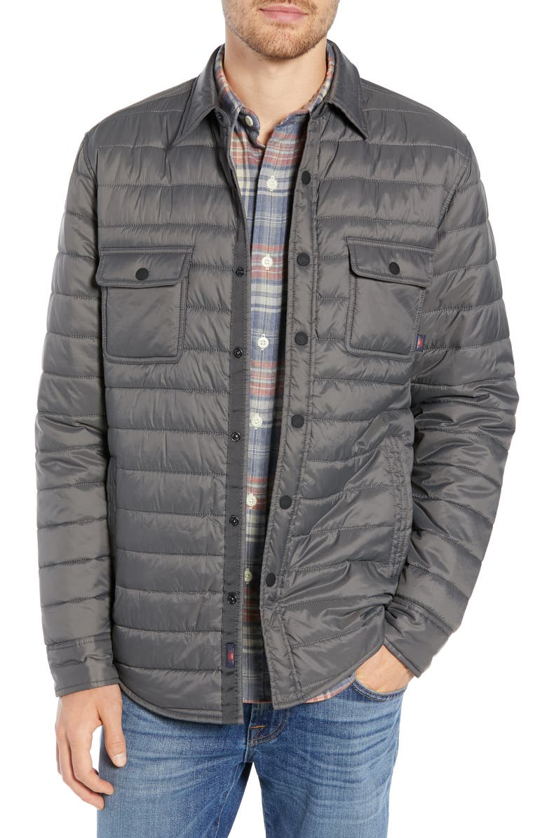 FAHERTY Atmosphere Quilted Water Resistant Shirt Jacket, Main, color, 050