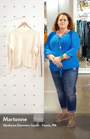 Montford Fringe Pullover Sweater, sales video thumbnail