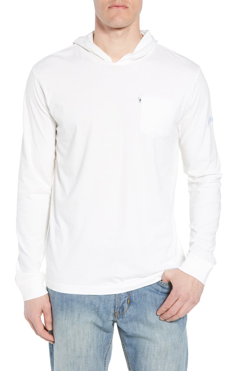 JOHNNIE-O Eller Hooded T-Shirt, Main, color, White
