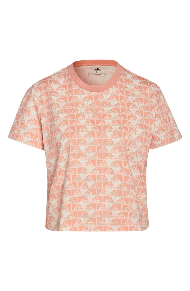 ADIDAS Brand Love Cropped T-Shirt, Main, color, WONDER WHITE/AMBIENT BLUSH
