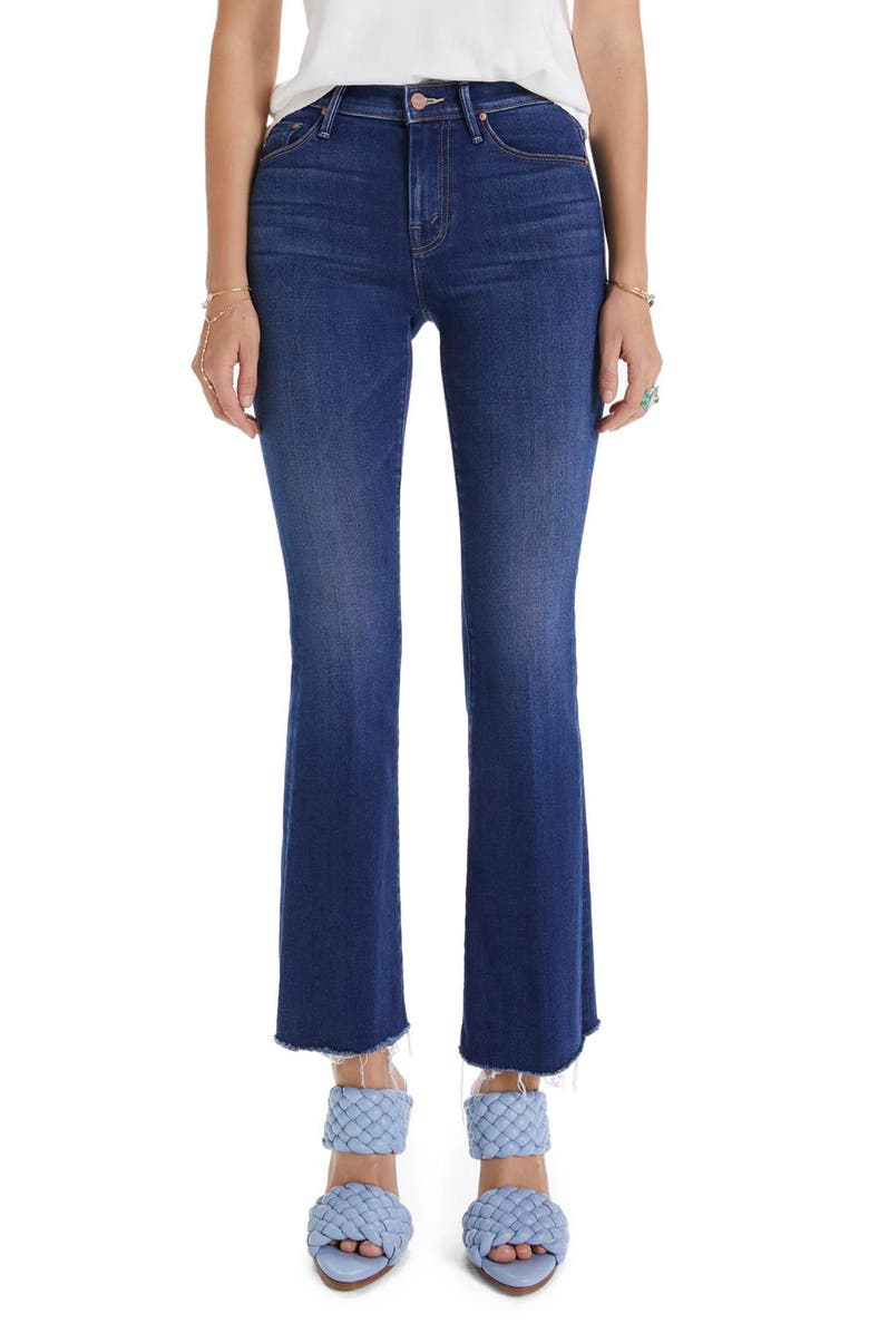 MOTHER Frayed Flare Jeans, Main, color, HOME MOVIES