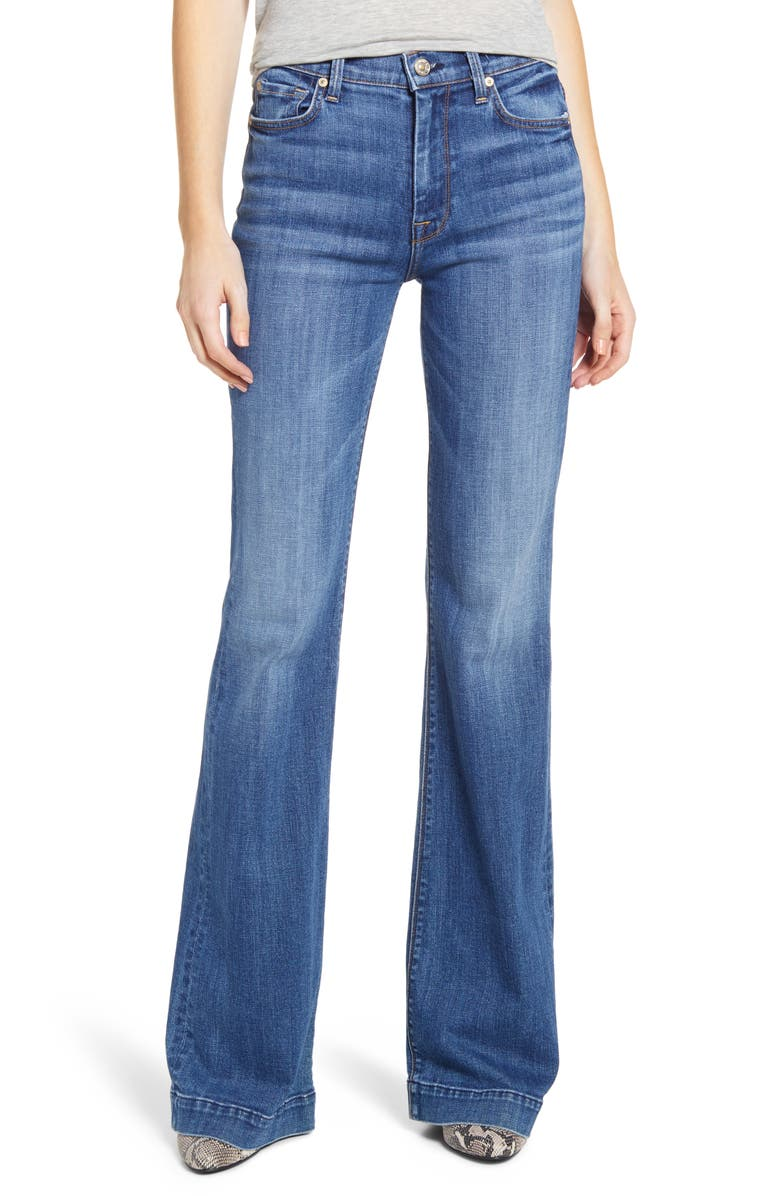 7 FOR ALL MANKIND<SUP>®</SUP> Ginger High Waist Flare Jeans, Main, color, 400
