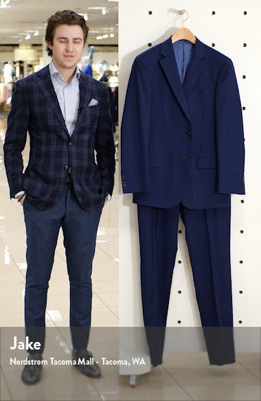 New York Classic Fit Solid Stretch Wool Suit, sales video thumbnail