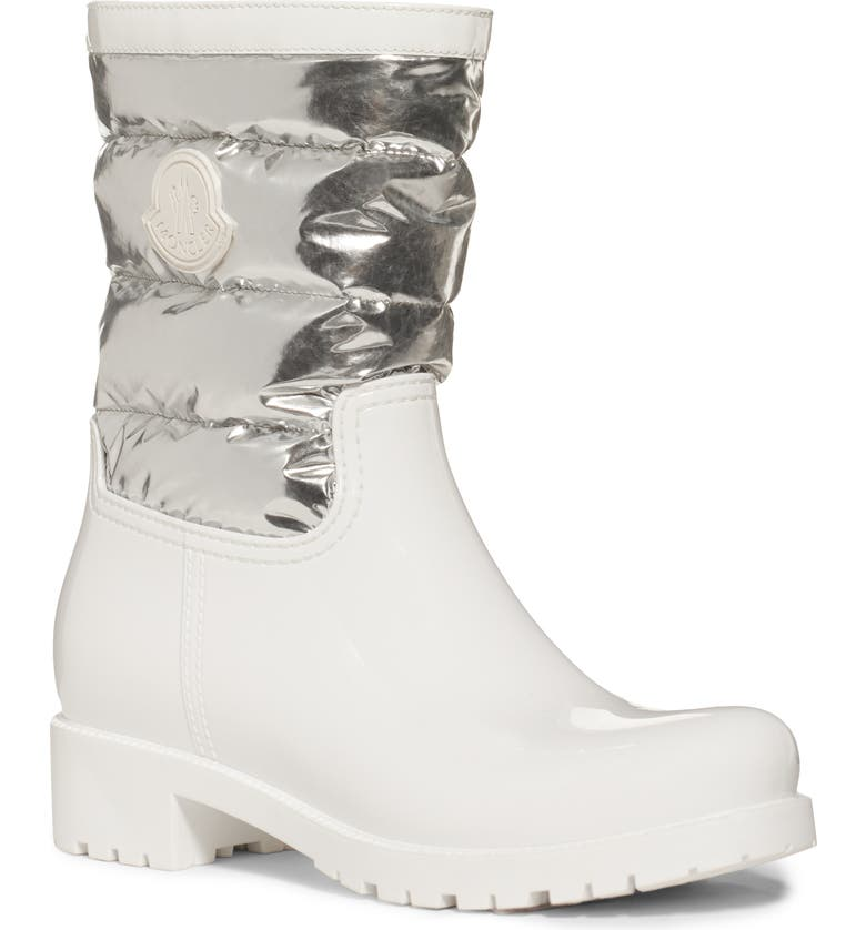 MONCLER Gisele Waterproof Rain Boot, Main, color, 101