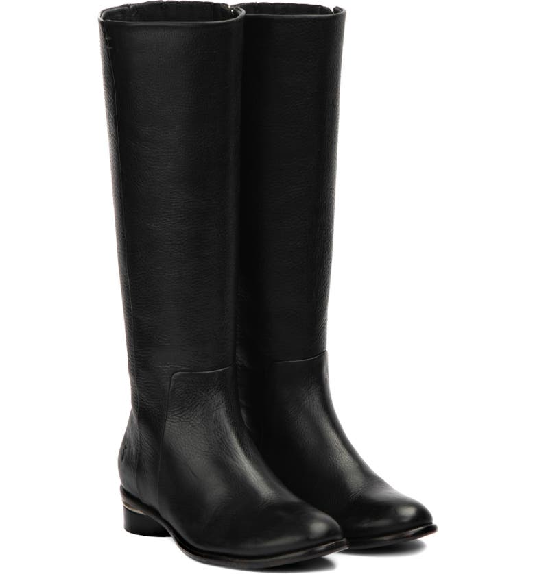 FRYE Charlie Seam Boot, Main, color, BLACK LEATHER