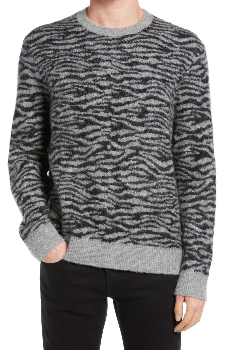 ALLSAINTS Men's Askell Crewneck Sweater, Main, color, GREY MARL