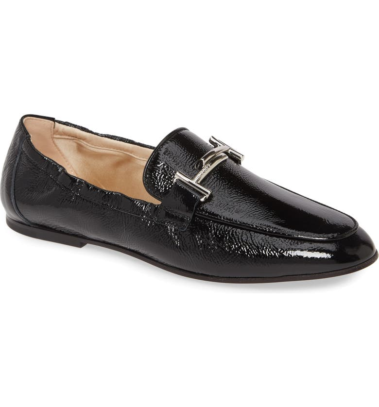 TOD'S Double-T Scrunch Loafer, Main, color, 001
