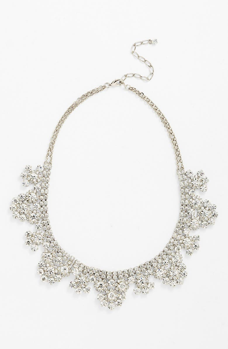NORDSTROM Scalloped Collar Necklace, Main, color, SILVER/ CLEAR