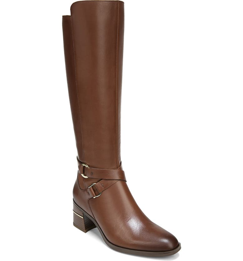 NATURALIZER Shore Knee High Boot, Main, color, LODGE BROWN LEATHER