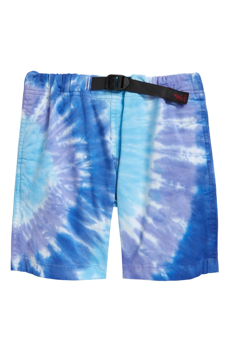 GRAMICCI Kids' Tie Dye G-Shorts, Main, color, BLUE PSYCHEDELIC