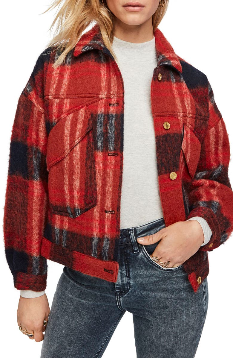 SCOTCH & SODA Oversize Wool Blend Trucker Jacket, Main, color, 610