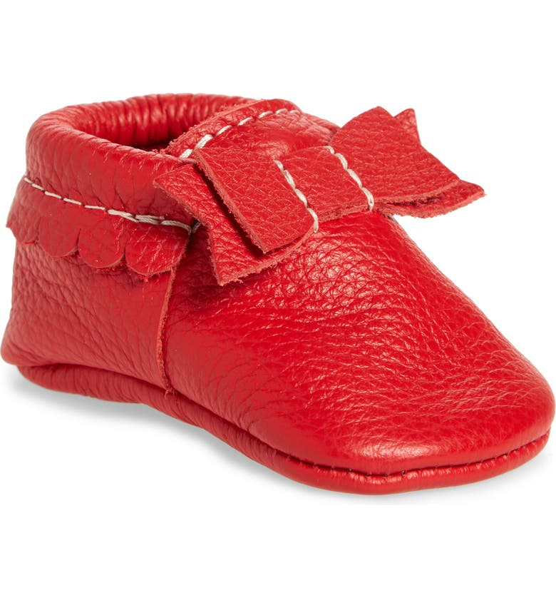 FRESHLY PICKED Santa Baby Moccasin, Main, color, 600