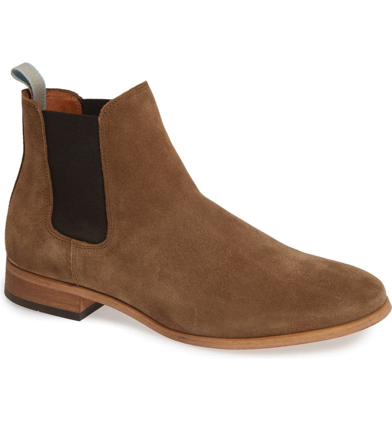 SHOE THE BEAR Dev Chelsea Boot, Main, color, TOBACCO SUEDE