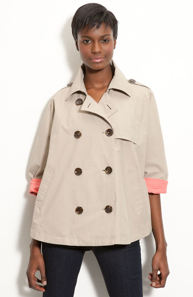 CALVIN KLEIN Double Breasted Cape, Main, color, 250