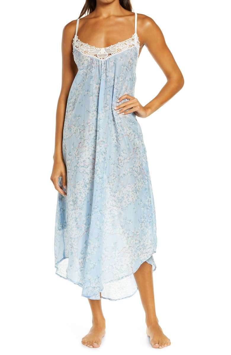 PAPINELLE Cherry Blossom Nightgown, Main, color, 400