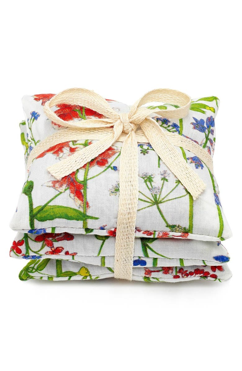 FLOWERS OF LIBERTY Floral Print Lavender Bags, Main, color, THEODORA