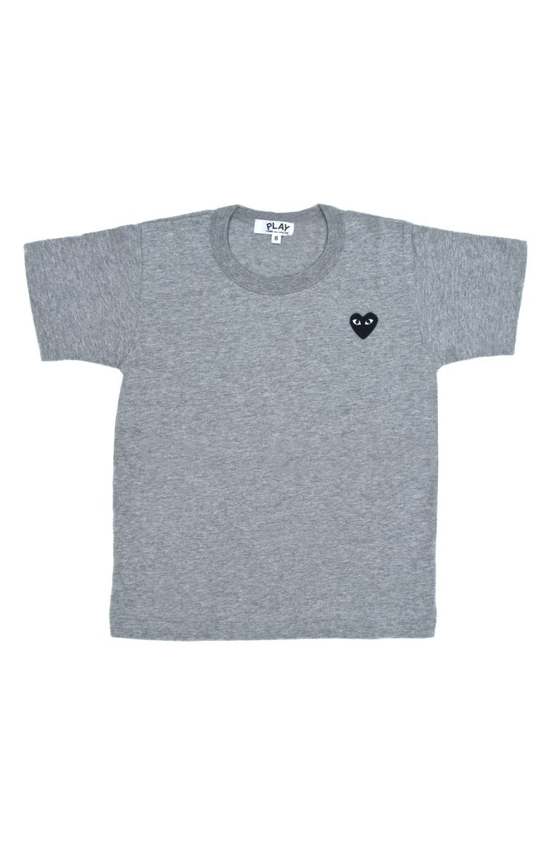 COMME DES GARÇONS PLAY Little Black Heart T-Shirt, Main, color, GREY