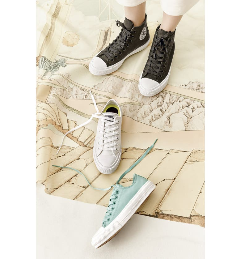 CONVERSE Chuck Taylor<sup>®</sup> All Star<sup>®</sup> 'Chuck II' Low Top Sneaker, Main, color, BLACK/ WHITE