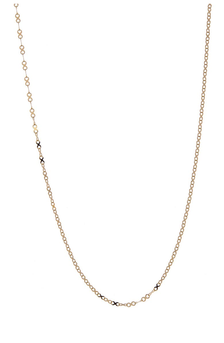 CANDELA JEWELRY 14K Gold X-Chain Necklace, Main, color, GOLD
