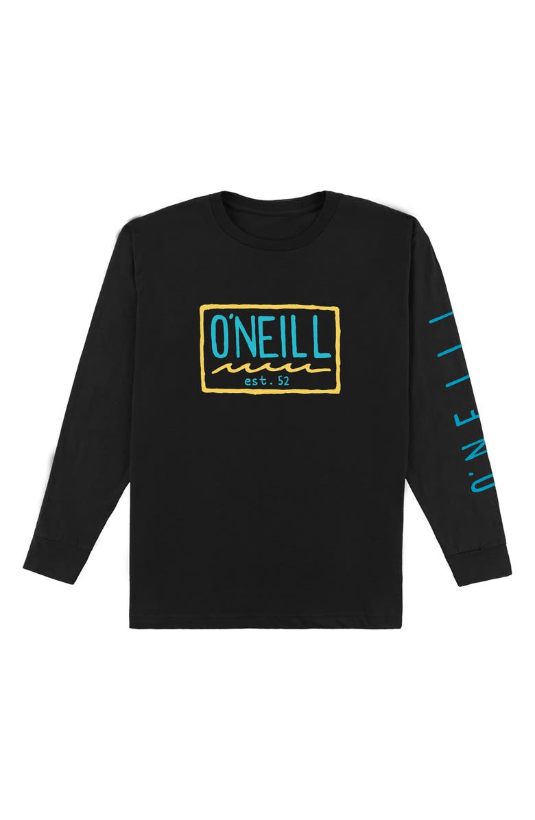 O'NEILL Clash Logo Graphic Long Sleeve T-Shirt, Main, color, 001